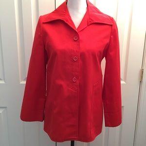 Jackets & Blazers - Vintage boxy cotton duster jacket coat orange